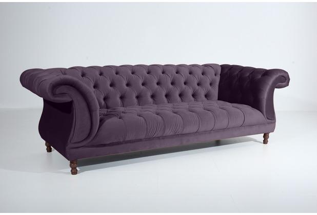 Max Winzer Sofa 3-Sitzer Ivette Samtvelours purple 253 x 100 x 80
