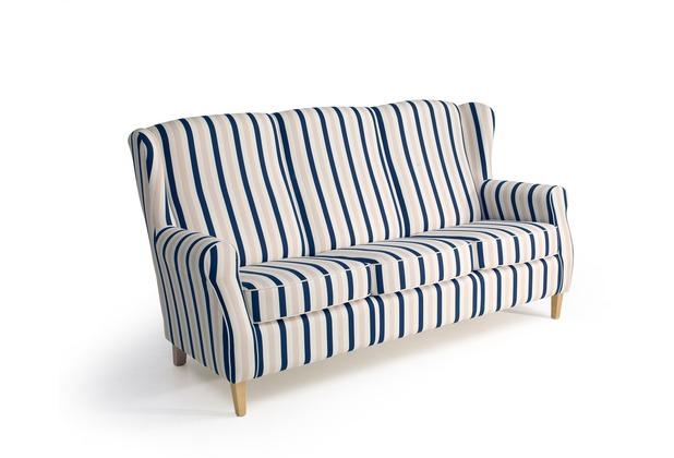 Max Winzer Sofa 3-Sitzer Lorris Flachgewebe blau 193 x 86 x 103