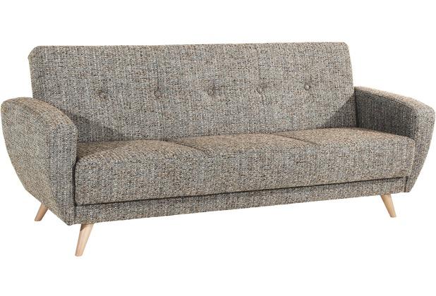 Max Winzer Sofa 3-Sitzer mit Bettfunktion Jerry grober Strukturstoff (Boucle) beige 208 x 82 x 85