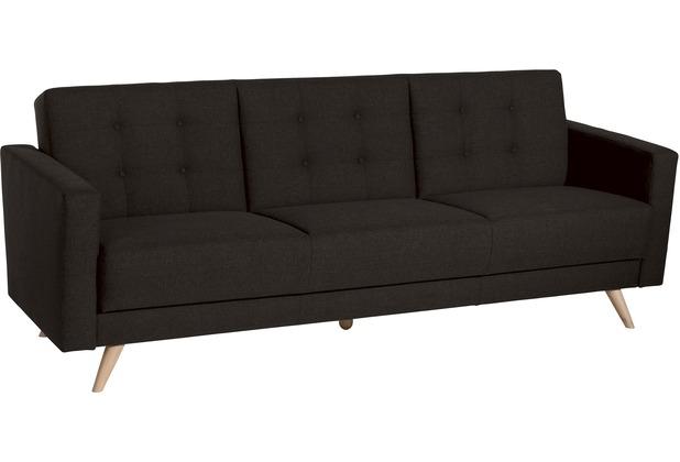 Max Winzer Sofa 3-Sitzer mit Bettfunktion Julian Flachgewebe schoko 224 x 83 x 81