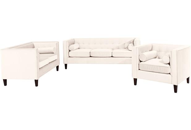 Max Winzer Sofa 3-Sitzer / Sofa 2-Sitzer / Sessel Jeronimo Samtvelours creme x 85 x 80
