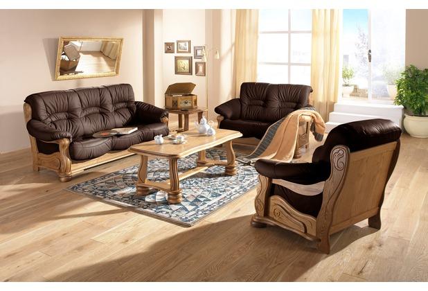 Max Winzer Sofa 3-Sitzer Tennessee pigmentiertes Nappaleder braun 205 x 95 x 95