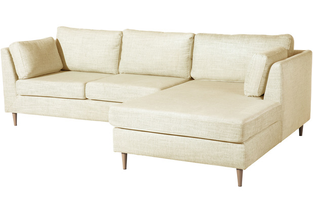Max Winzer Sofa Louisiana Beige 2-Sitzer links mit Longchair rechts Louisiana Chenille beige 258 x 158 x 88