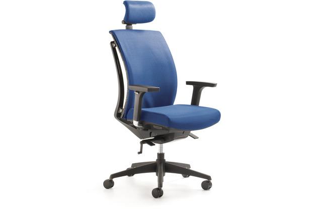 Mayer Sitzmöbel Drehsessel myARTI CHAIR blau mit Kopfstütze