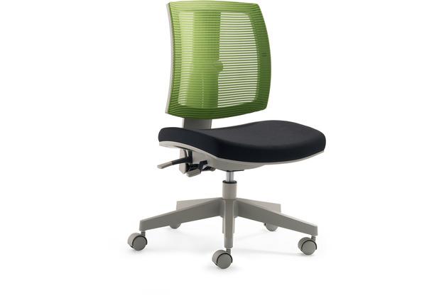 Mayer Sitzmöbel Kinder- und Jugenddrehstuhl myFLEXO schwarz + grün