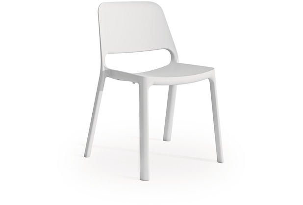 Mayer Sitzmöbel Stapelstuhl myNUKE weiß, Esszimmerstuhl