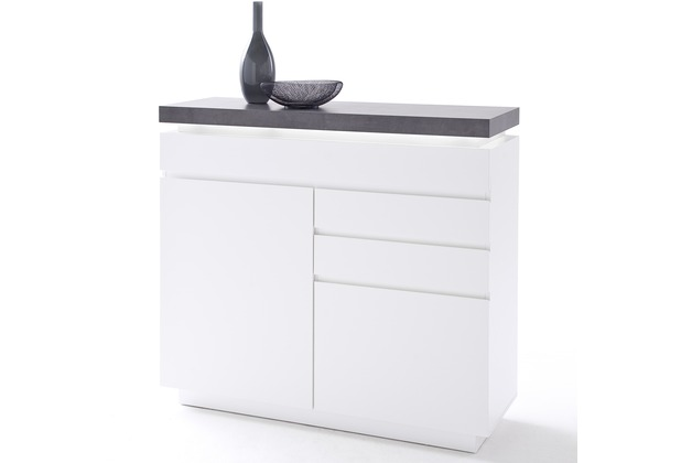 MCA furniture Atlanta Kommode mit 2 Türen und 3 Schubkästen, weiß