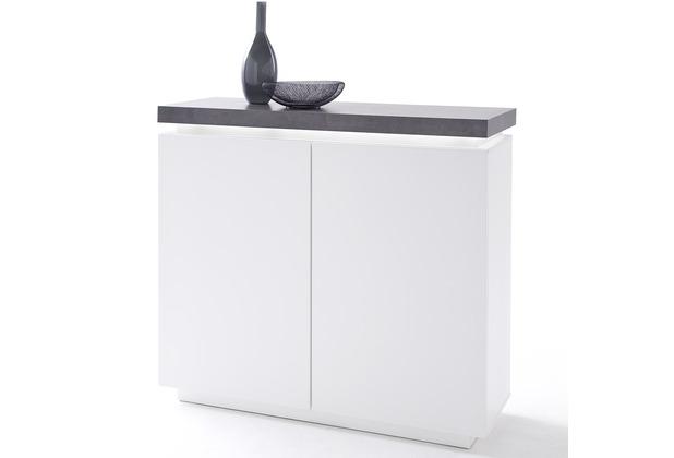MCA furniture Atlanta Kommode mit 2 Türen, weiß