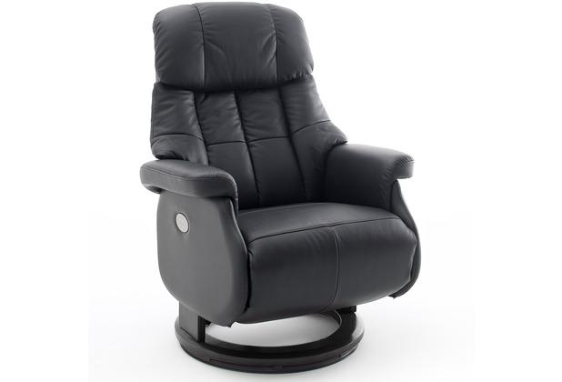 MCA furniture Calgary Comfort elektrisch Relaxsessel mit Fußstütze, schwarz/schwarz