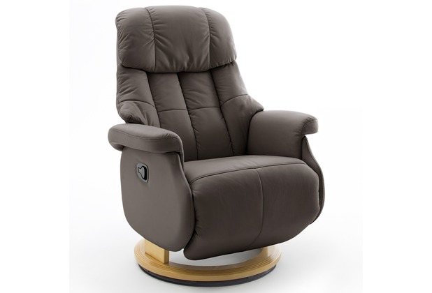 MCA furniture Calgary Comfort Relaxsessel mit Fußstütze, braun/natur