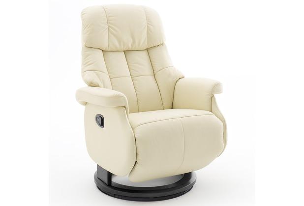 MCA furniture Calgary Comfort Relaxsessel mit Fußstütze, creme/schwarz