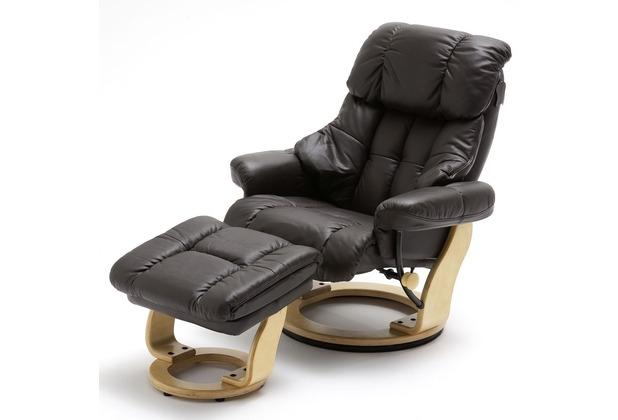 MCA furniture Calgary Relaxsessel mit Hocker, braun/natur