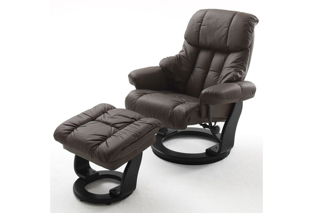 MCA furniture Calgary Relaxsessel mit Hocker, braun/schwarz