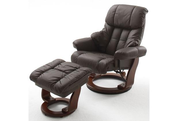 MCA furniture Calgary Relaxsessel mit Hocker, braun/walnuss
