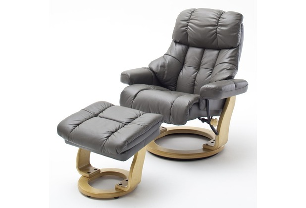 MCA furniture Calgary Relaxsessel mit Hocker, schlamm/natur