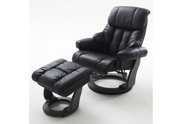 MCA furniture Calgary Relaxsessel mit Hocker, schwarz/schwarz