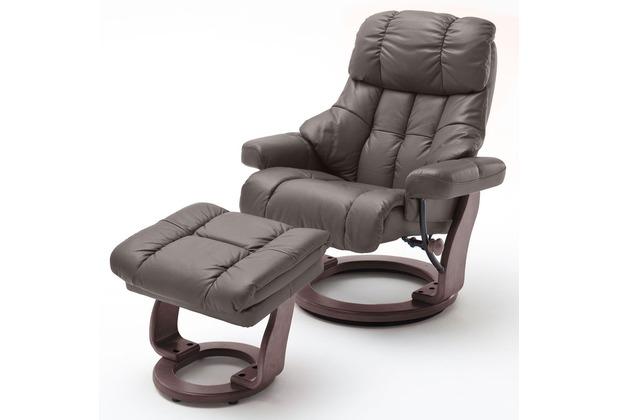 MCA furniture Calgary XXL Relaxsessel mit Hocker, braun/walnuss