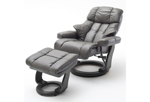 MCA furniture Calgary XXL Relaxsessel mit Hocker, schlamm/schwarz