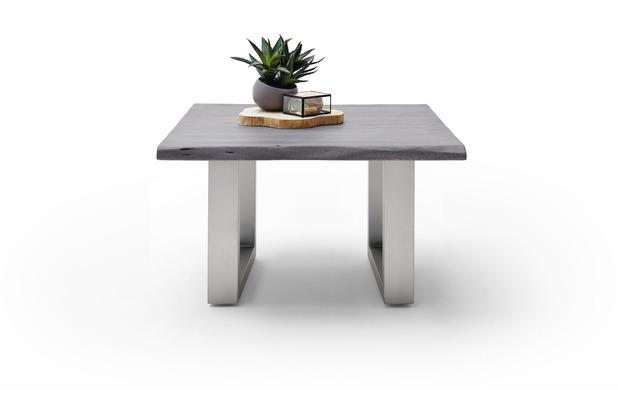 MCA furniture Cartagena Couchtisch grau Edelstahl gebürstet U-Bein 75 x 45 x 75 cm