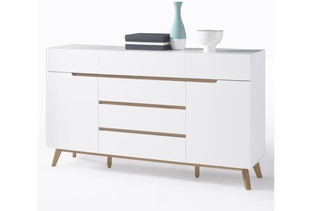 MCA furniture Cervo Sideboard mit 2 Türen und 6 Schubkästen, weiß