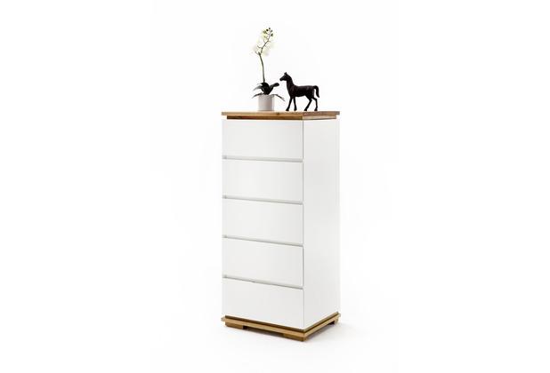MCA furniture Chiaro Hochkommode weiß matt 5 Schubkästen 51 x 115 x 40 cm