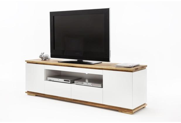 MCA furniture Chiaro Lowboard weiß matt 2 Schubkästen 202 x 54 x 40 cm