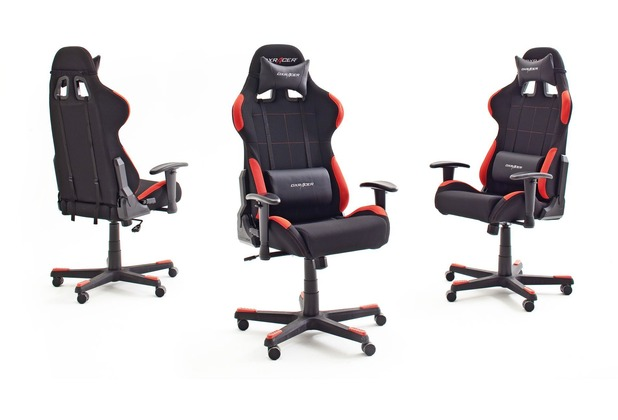 MCA furniture DX RACER Bürostuhl in schwarz-rot