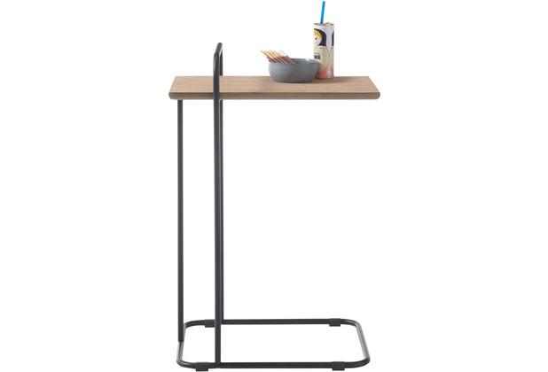 MCA furniture Eusta Beistelltisch Eiche schwarz  48 x 72 x 35 cm