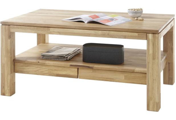 MCA furniture Gordon Couchtisch Massivholz Asteiche 115 x 54 x 70 cm