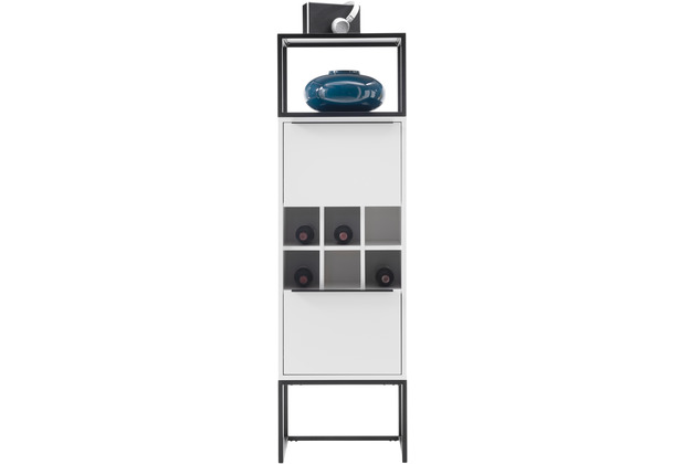 MCA furniture Lille Stauraumelement weiß 2 Türen 50 x 165 x 40 cm