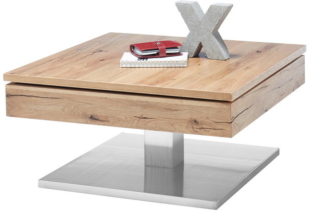 MCA furniture Monrovia Couchtisch Asteiche 75 x 38 x 75 cm