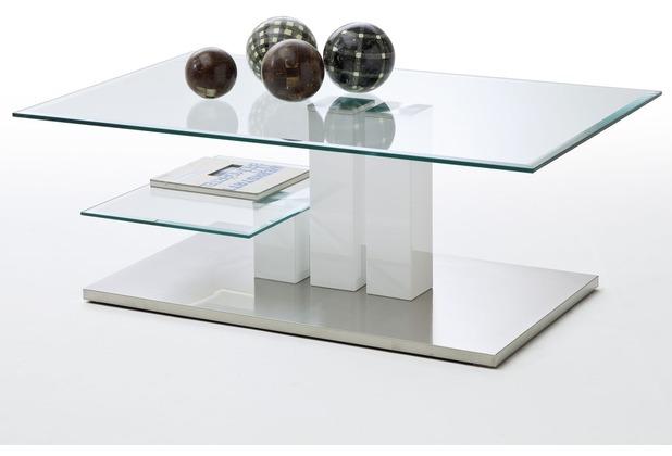 MCA furniture Nils Couchtisch mit Klarglas Platte