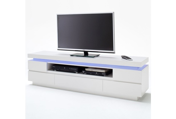 MCA furniture Ocean Lowboard mit 5 Schubkästen und 1 offenen Fach, weiß