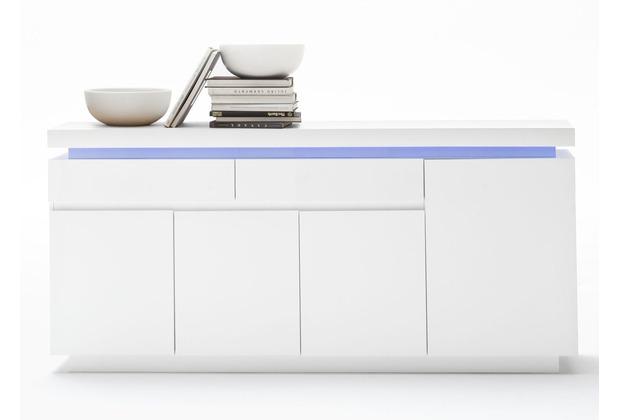 MCA furniture Ocean Sideboard mit 4 Türen und 2 Schubkästen, weiß