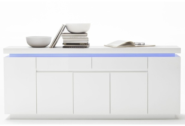 MCA furniture Ocean Sideboard mit 5 Türen und 2 Schubkästen, weiß
