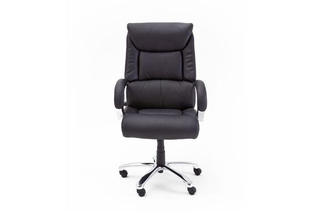 MCA furniture Real Comfort Chefsessel in schwarz mit Wippfunktion