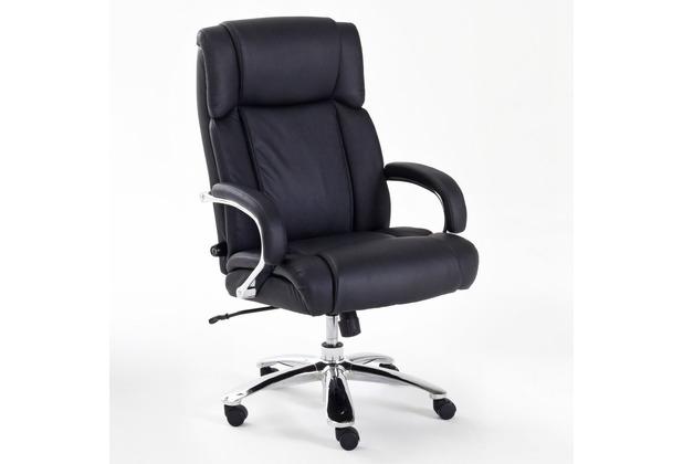 MCA furniture Real Comfort Chefsessel in schwarz, verchromt