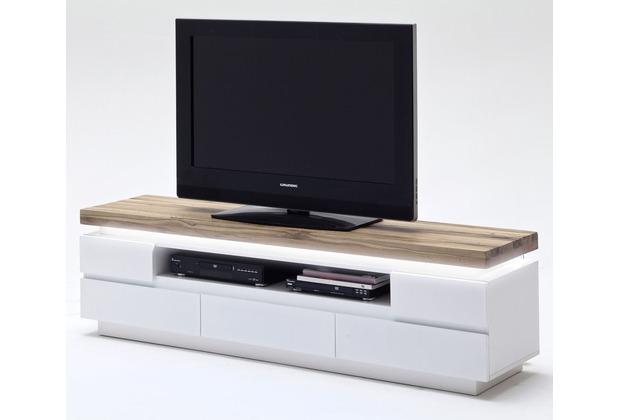 MCA furniture Romina Lowboard mit 5 Schubkästen und 1 offenen Fach, weiß + Eiche