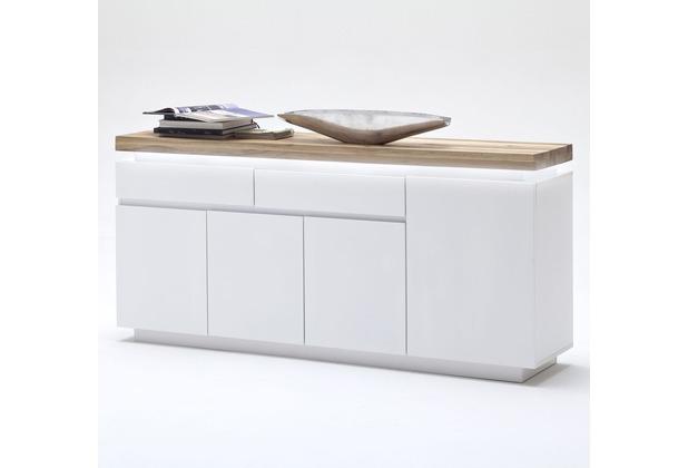 MCA furniture Romina Sideboard mit 4 Türen und 2 Schubkästen, weiß + Eiche