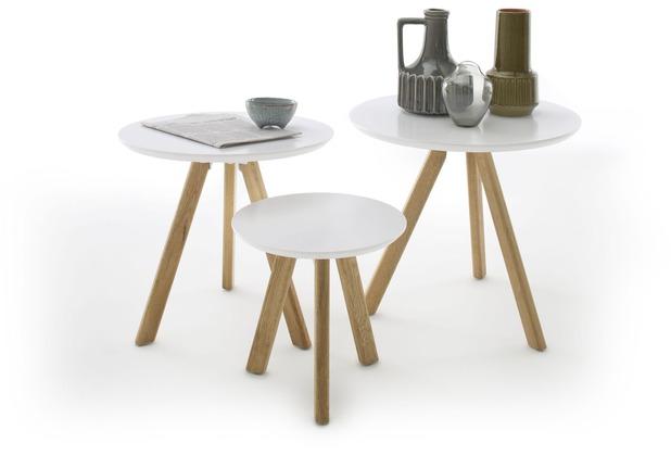 MCA furniture Sinio 3er Couchtisch Set, weiß