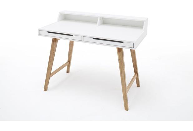 MCA furniture Tiffy Schreibtisch mit 2 Schubkästen, weiß