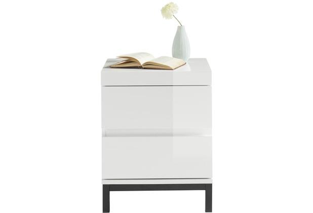 MCA furniture Tripolis Nachtkonsole weiß 2 Schubkästen 40 x 50 x 40 cm