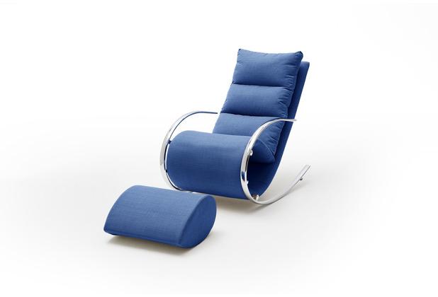 MCA furniture York Relaxer mit Hocker grau 67 x 111 x 102 cm