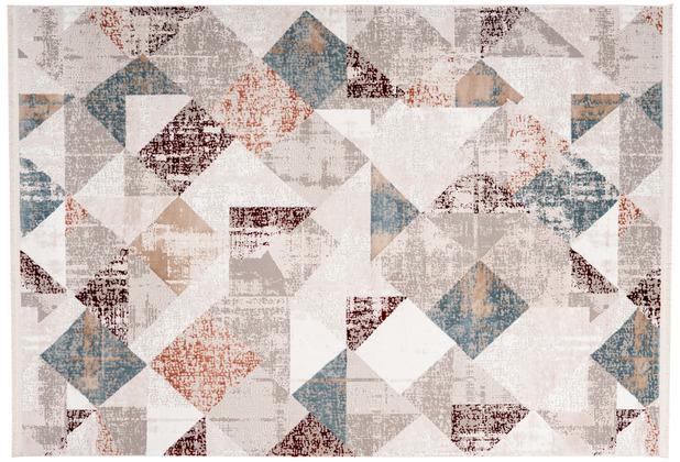 me gusta Teppich Akropolis 225 Grau / Lachsrosa 120 x 180 cm