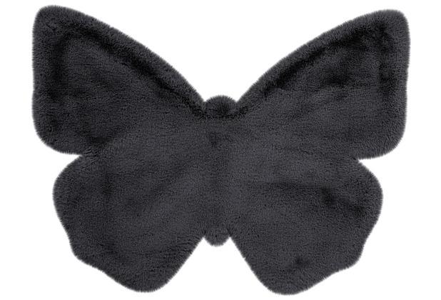 me gusta Kinderteppich Lovely Kids 1125-Butterfly Anthrazit 70 x 90 cm