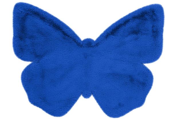me gusta Kinderteppich Lovely Kids 1125-Butterfly Blau 70 x 90 cm