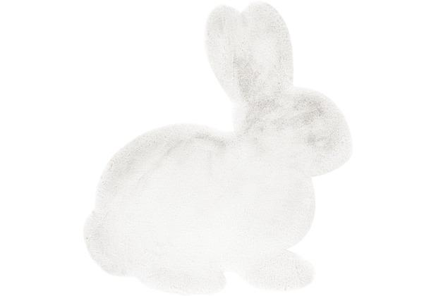 me gusta Kinderteppich Lovely Kids 725-Rabbit Weiß 80 x 90 cm