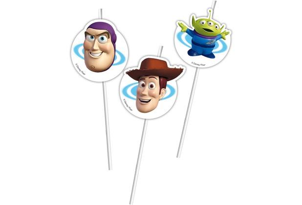 "PROCOS Medaillion-Trinkhalm mit Motiv \""Toy Story 3\"", flexibel, 6 Stück"