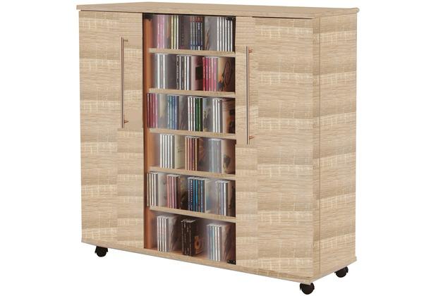 vcm medien sideboard luxor sonoma eiche s gerau braun. Black Bedroom Furniture Sets. Home Design Ideas