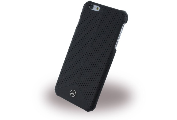 Mercedes-Benz Pure Line Peforated Leder Hard Cover/ Case/ Schutzhülle - Apple iPhone 6 Plus/6s Plus, Schwarz